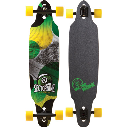 Skateboard The Sector 9 Drifter Longboard is a lively, fun, and flexy drop-through carver with a long enough wheelbase to handle a little speed without feeling too squirrely. - $159.20