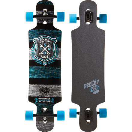 Skateboard The fun and flexy Sector 9 Sprocket Longboard features a short wheelbase, concave shape, and nose and tail kicks for quick direction changes and slides on mellow terrain. - $191.20