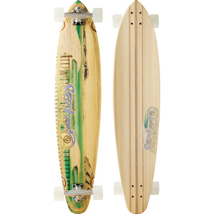 Skateboard The Sector 9 Mundaka Longboard is right at home coasting across campus or down to the pub, thanks to soft, grippy wheels and a classic, cruisy shape. - $143.20