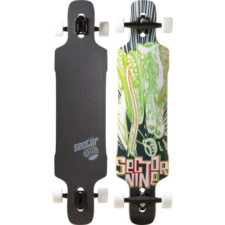 Skateboard The Sector 9 Eye Dropper Longboard combines the best features of both downhill and freestyle carve designs for a versatile, fun ride at just about any speed. - $167.20