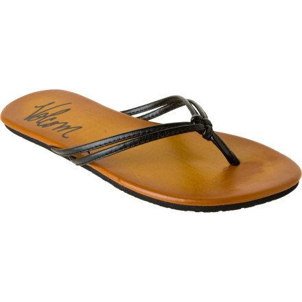 Entertainment The Volcom Women's Forever Creedler Sandal gives you the glamour of a sexy, strappy shoe and the care-free style of a flip-flop. You could walk right off a St. Tropez beach and into a posh restaurant without ever changing your shoes. - $17.96
