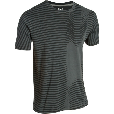 Surf Keep your inner dork at bay when you pull on the Volcom Men's Warp Division Slim Fit T-Shirt. Although that nerd living inside you wants to break free, this striped organic cotton shirt will contain the demon with buttery-smooth style. - $17.37