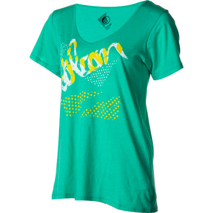 Surf Volcom Script-A-Dot Boyfriend T-Shirt - Short-Sleeve - Women's - $17.47