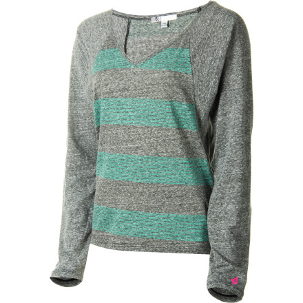 Surf Volcom took a perfectly good v-neck shirt and abused it to perfection to create the Women's Moclov Long-Sleeve T-Shirt. - $23.56