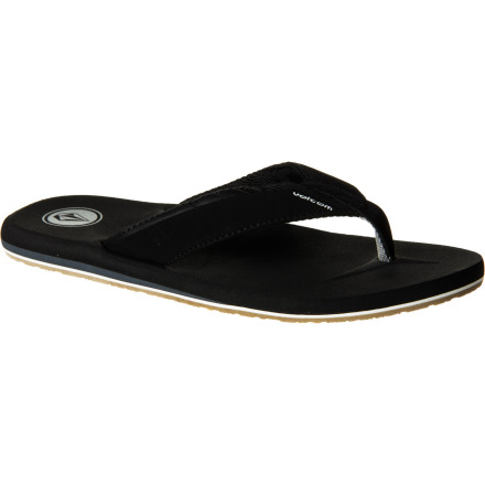 Surf Unless you're skateboarding, the only footwear you can be found in during the summer is the Volcom Vector Creedler Men's Flip Flop. With a comfortable and supportive triple-density EVA footbed, a tough nubuck strap, and a grippy rubber sole, it raises the question: why would you wear anything else - $22.36