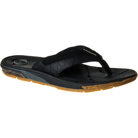 Surf Volcom designed the Main Drain Flip Flop with an innovative drainage system that gets rid of water so your boss won't have any evidence when you go surfing in the morning and tell him your car broke down. - $46.36
