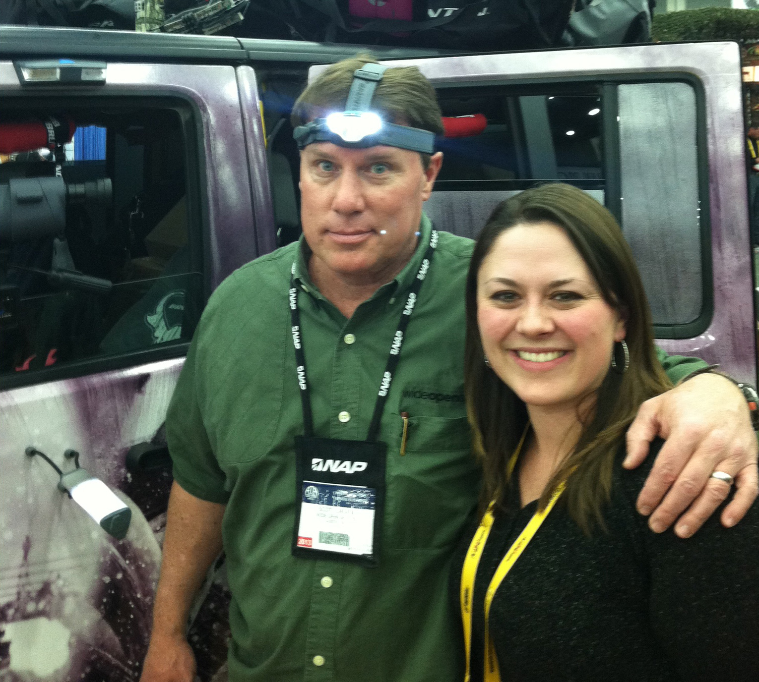 Entertainment Scott and Jess Buss of Brunton Hunting. Scott is trying out the Glacier 320 Headlamp
