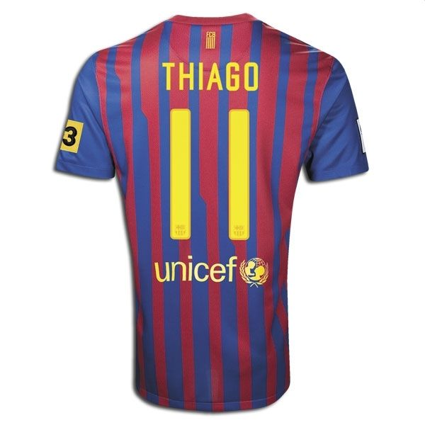 Sports Youth THIAGO Barcelona Home Soccer Jersey 2011/2012
