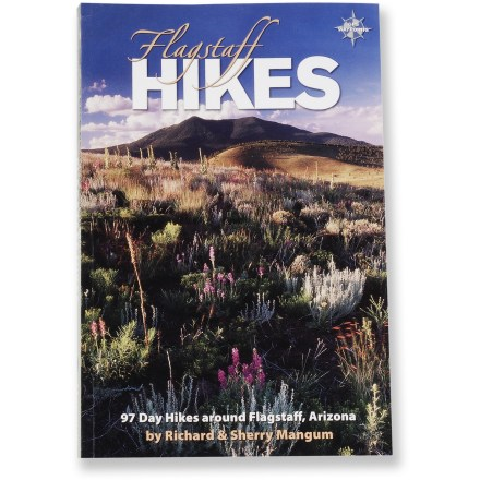Camp and Hike Arranged alphabetically, this newly revised edition profiles 97 day hikes around Flagstaff, Arizona. Authors: Richard and Sherry Magnum. Softcover; 192 pages; color photographs and maps. Hexagon Press, Inc.; copyright 2007. Description of hike and its corresponding map are on facing pages so you can take in everything at once. Each of the 97 hikes include a map, photo, GPS waypoints, trailhead directions, difficulty rating, driving and hiking distances and elevation gain. Convenient tables let you choose hikes by difficulty or total drive and hike time. - $16.95