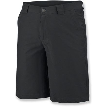Camp and Hike The real value of the Columbia Utilizer II shorts comes from the fact that you can wear them in so many activities: travelling; hiking around town, a quick bike ride and simply hanging out. Lightweight cotton/nylon fabric is quick drying and durable. 2 side pockets; side zip security pocket; 2 back pockets, 1 zippered. The Columbia Utilizer II shorts are made of fabric that provides UPF 15 sun protection, shielding skin from harmful ultraviolet rays. Closeout. - $20.73