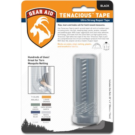 Camp and Hike Tenacious Tape(TM) repair tape is ideal for fast in-field repairs on tents, tarps and rain gear. - $4.95