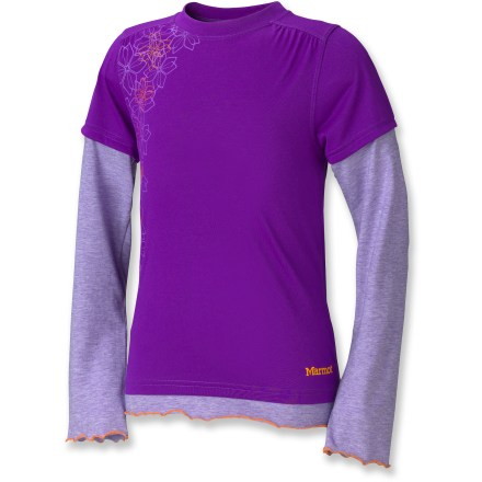 The girls' Marmot Dani top offers sun protection in a cute layering piece that looks great at school or in the mountains. Fast-drying polyester pulls moisture away from the skin for dry comfort. Fabric provides UPF 30 sun protection, shielding skin from harmful ultraviolet rays. - $21.93