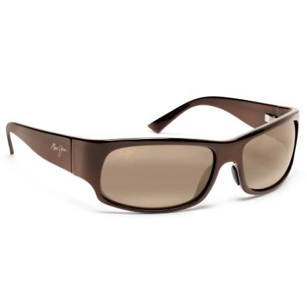 Entertainment Maui Jim Longboard polarized sunglasses are mid-sized wrap-arounds that provide protection from the sun whether you're relaxing on the beach or fishing for the big one. - $219.00
