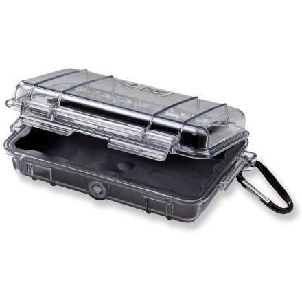 Climbing Boasting the legendary strength of the original Pelican Case, this mini case helps provide protection to small electronic items and other valuables. - $25.00
