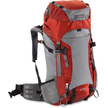 Camp and Hike The REI Ridgeline 65 technical pack is a great choice for multiday adventures. At this price, you may want to act quick. Perimeter-style, lightweight tubular aluminum frame provides structure without restricting movement, and it keeps pack weight low. ActivMotion hipbelt pivots as you move, delivering a balanced load by keeping it centered and stable as you move over uneven terrain. Precurved waistbelt is designed to wrap hip bones for a natural fit from day 1. Hipbelt webbing system allows you to use a natural forward pulling motion for quick, easy cinching and precise adjustment. Precurved shoulder straps match your anatomy for non-binding comfort on and off the trail. Durable molded-foam back panel is designed to improve body contact comfort, with channels for air circulation to keep your back cool and dry. Rip-and-stick torso adjustment lets you dial in a precise fit for a variety of torso lengths. Enjoy dual access through the top-loading opening and the J-shaped, zippered, front-panel opening; zipper is water resistant. Removable top lid pocket with water-repellent zipper lets you stash your essentials to bring into tent, so pack can stay outside or in vestibule. Hydration-compatible design features an internal reservoir sleeve and dual exit ports for drinking tube; hydration reservoir not included. Side compression straps secure both large and small loads for increased stability. 2 side pockets-1 zip and 1 mesh-hold water bottles, energy bars and other essentials you want close at hand. Hipbelt pocket stores those small essentials you want at your finger tips such as lip balm and sunscreen. Lash points on the other side of hipbelt let you attach camera and GPA pouches. Quick release straps on bottom of pack let you attach sleeping pad; tool attachment points on front of pack lash on trekking poles and ice axes. - $139.73