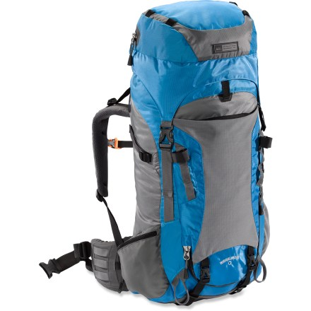 Camp and Hike The women's REI Ridgeline 65 technical pack carries enough gear to adventure out on a multiday adventure. - $139.73