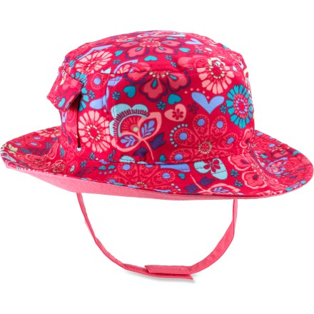 Entertainment The REI Water Reversible hat delivers 2 looks in 1! Young girls can choose from solid or floral print depending on their outfit or mood. - $9.83