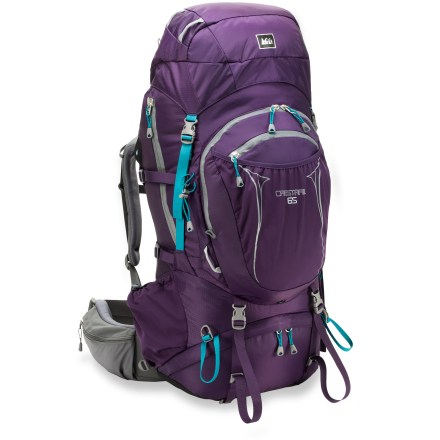 Camp and Hike With an all-new fit, this updated pack for women sports the latest in design, materials and components. It balances comfort with performance and strength for multiday explorations in the backcountry. - $118.93
