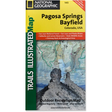 Camp and Hike This Trails Illustrated folded map offers comprehensive coverage of Pagosa Springs and Bayfield in Colorado. - $11.95