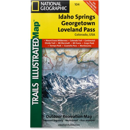 Ski This Trails Illustrated map will help you plan trips and explore the area in and around Colorado's Idaho Springs, Georgetown and Loveland Pass. - $11.95