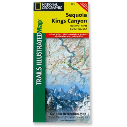 Camp and Hike This National Geographic Trails Illustrated folded map offers comprehensive coverage of California's Sequoia and Kings Canyon national parks. - $11.95