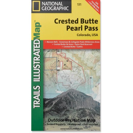 Camp and Hike This Trails Illustrated folded map offers comprehensive coverage of the Crested Butte and Pear Pass recreation areas in Colorado. - $11.95
