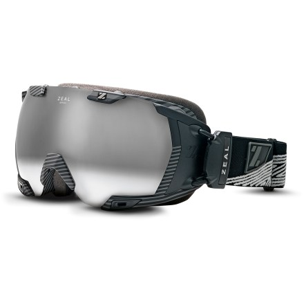 Ski The Zeal Z3 GPS Recon snow goggles feature Recon MOD GPS data for real-time run info, plus an adaptive polarized and photochromic lens for excellent vision on the slopes. Recon MOD GPS technology displays navigation and performance-based information within the goggles in real time. Speed, distance, altitude, vertical odometer, chronometer, time, temperature, run counter, jump stats, and location information is readily available to track, download and log. Non-obtrusive graphics allow complete front and peripheral vision; easy-to-use interface toggles through screens. Internal screen is wide and easy to read; screen can be adjusted to optimize viewing preferences. Wireless remote controls display and mounts on goggles strap. Lightweight, pliable and strong frame ensures comfort during long days on the hill; vents bring cool outside air in and move warm, moist air out, reducing fogging. Antifog lens treatment is infused into the inner lens so it will never rub off. Triple-density foam molds to your face for a secure fit and wicks away uncomfortable moisture. Polarization cuts out glare to help reduce eye fatigue; spherical lens shape offers a broad field of vision and excellent optical quality. Photochromic lens changes from yellow to dark rose/brown tint per available light, offering 18 - 43% visible light transmission for versatility in nearly all light conditions. Includes a microfiber cleaning bag. Please note the Zeal Z3 GPS Recon snow goggles includes Recon Instruments MOD technology; MOD Live is not included. Zeal Z3 GPS Recon polarized and photochromic snow goggles are designed to fit medium-sized faces. - $450.00