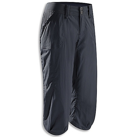 Free Shipping. Arcteryx Women's Parapet Capri DECENT FEATURES of the Arcteryx Women's Parapet Capri Lightweight fabric with stretch Wide waistband with belt loops, two snap closure Articulated knee and gusseted crotch Hand pockets, back pockets, thigh pocket with hidden zipper We are not able to ship Arcteryx products outside the US because of that other thing. We are not able to ship Arcteryx products outside the US because of that other thing. We are not able to ship Arcteryx products outside the US because of that other thing. We are not able to ship Arcteryx products outside the US because of that other thing. The SPECS Weight: M: 6.2 oz / 177 g Fit: Relaxed Fabric: TerraTex - 94% nylon, 6% spandex This product can only be shipped within the United States. Please don't hate us. - $88.95