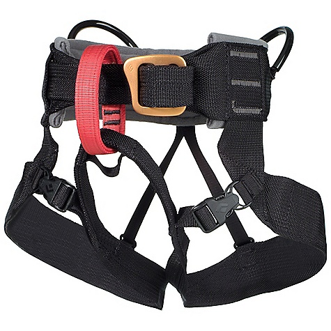 Climbing Black Diamond Kids' A-Bod Harness DECENT FEATURES of the Black Diamond Kids' A-Bod Harness Fleece-padded waistbelt with traditional buckle Quick-release leg loops for easy on/off 2 gear loops Constructed from wide nylon webbing Fits weight range 16-50 kg (35-110 lb) The SPECS Weight: 12.7 oz / 360 g Waist: 19 x 25in. / 48 x 63 cm Legs: 16 x 20in. / 41 x 51 cm Nylon webbing Polyester fleece ALL CLIMBING SALES ARE FINAL. - $39.95