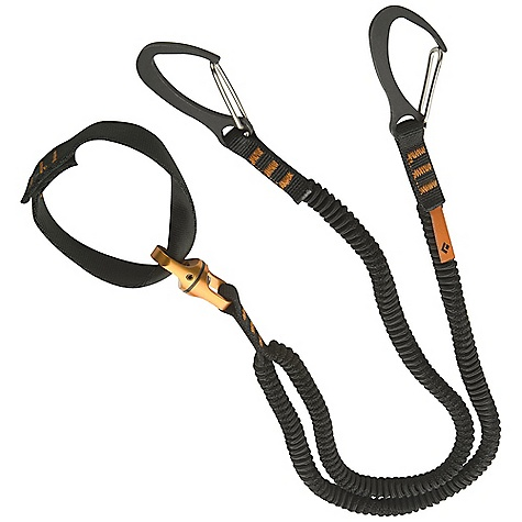 Climbing Free Shipping. Black Diamond Spinner Leash DECENT FEATURES of the Black Diamond Spinner Leash Proprietary elastic webbing stretches for maximum reach and absorbs less water than nylon Steel mini-clip attaches to the tool's spike or head Built-in swivel ensures tangle-free use Rated to 2 kN The SPECS Weight: 4 oz / 120 g Strenght: 450 lbf / 2 kN ALL CLIMBING SALES ARE FINAL. - $49.95