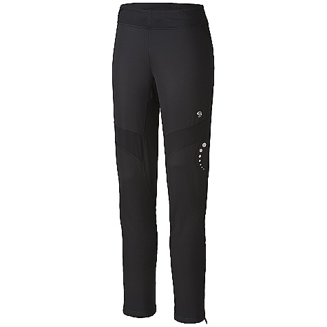 On Sale. Free Shipping. Mountain Hardwear Women's Effusion Power Tight DECENT FEATURES of The Mountain Hardwear Women's Effusion Power Tight Microclimate Zoning construction: strategically placed knit panels for increased breathability and mobility Face fabric: windproof and water resistant DWR finish sheds moisture Highly luminescent reflective print for ultimate visibility Low profile pocket at waistband to store key or a refuel Soft drawcord at waist for easy fit adjustments Inseam gusset and knee articulation for mobility Deep zipper at side hem for a close fit Flat-lock seam construction eliminates chafe The SPECS Average Weight: 7 oz / 198 g Center Back Length: 31in. / 79 cm Fabric: Body: Solution 3L Jersey (100% polyester), Panel: Stretch Tech Terry (65% nylon, 22% polyester, 13% elastane) - $69.99