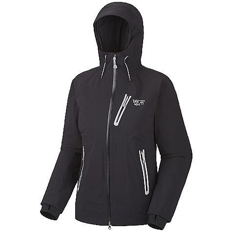 On Sale. Free Shipping. Mountain Hardwear Women's Sooka Jacket DECENT FEATURES of the Mountain Hardwear Women's Sooka Jacket Lightweight, waterproof and warm AXF Super DWR finish repels water 5 times longer than standard DWRs Pockets set high and out of the way from harness and pack straps Dual hem drawcords for quick fit adjustments Integrated thumb loops for warmth Micro-Chamois-lined chin guard prevents zipper chafe The SPECS Average Weight: 1 lb 3 oz / 524 g Center Back Length: 26.5in. / 67 cm Fabric: Body: Rebar Ripstop AXF (100% nylon), Insulation: Thermic Micro - $163.99