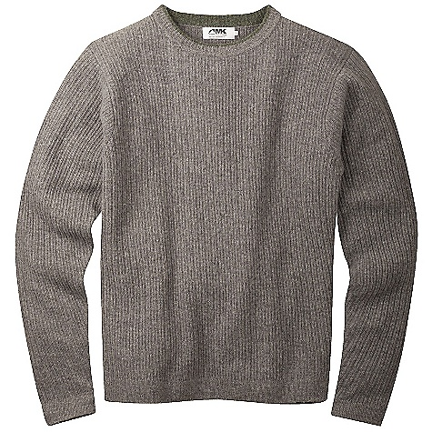 Features of the Mountain Khakis Men's Lodge Crewneck Sweater 7-Gauge 100% Washable Merino Wool with Variegated Rib Rib Knit Collar Contrast Color Detail at Collar, Cuffs and Hem J-Shaped Armholes for Freedom of Movement MK Flag Label at Sideseam Casual Fit - $129.95