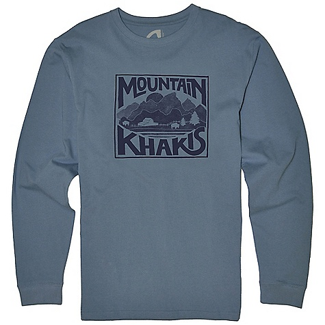 Mountain Khakis Men's Ranch View LS T-Shirt DECENT FEATURES of the Mountain Khakis Men's Ranch View LS T-Shirt Water-Based Inks Limited Edition Hand-Drawn Artwork by Cheryl Humphries Taped Neck Seam Side Seam Construction Cotton/Spandex Rib Neck Double-Needle Cover-Stitched Seams Enzyme Washed Casual Fit The SPECS 5.5oz 100% Certified Organic Cotton Jersey - $34.95