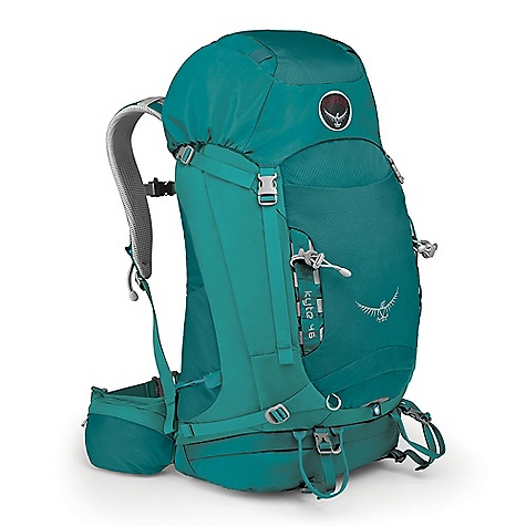 Camp and Hike Free Shipping. Osprey Women's Kyte 46 Pack DECENT FEATURES of the Osprey Women's Kyte 46 Pack AirScape backpanel Torso-adjustable harness Stretch mesh front pocket Stretch mesh side pockets Zippered hipbelt pockets Front daisies with bungee tie-offs Dual ice tool loops Stow-on-the-Go trekking pole attachment Reverse StraightJacket compression straps Integrated raincover External Hydration Sleeve Women's specific hipbelt and harness Fixed top pocket with gear loops and dual zippered compartments Under-lid zippered mesh pocket Top loader Removable sleeping pad straps Zippered sleeping bag compartment with drop-down divider Suspension Fixed top pocket with gear loops and dual zippered compartments Under-lid zippered mesh pocket Top loader Removable sleeping pad straps Zippered sleeping bag compartment with drop-down divider Dual vertical zippered side pockets The SPECS 420D nylon packcloth 210 double diamond nylon Dimension: (H x W x D): 26 x 13 x 13in. / 65 x 32 x 32 cm The SPECS for XS/S Volume: 2685 cubic inches / 44 liter Weight: 3 lbs 2 oz / 1.42 kg The SPECS for S/M Volume: 2807 cubic inches / 46 liter Weight: 3 lbs 5 oz / 1.5 kg - $169.00