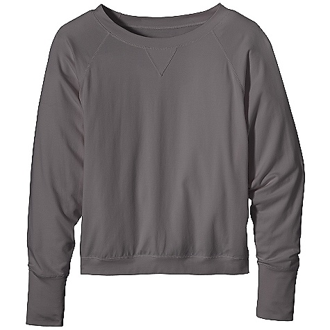 Free Shipping. Patagonia Women's Graviti P-O DECENT FEATURES of the Patagonia Women's Graviti P/O An organic cotton and Tencel lyocell blend with spandex for stretch Pullover top can be worn on its own or layered Batwing sleeves and boatneck are ribbed at the cuffs and neck Hits at high hip The SPECS Regular fit 6-oz 55% cotton, 41% Tencel lyocell, 4% spandex jersey This product can only be shipped within the United States. Please don't hate us. - $69.00