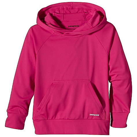 Patagonia Baby Sun Light Hoody DECENT FEATURES of the Patagonia Baby Sun Light Hoody Made of cool-wearing polyester with 50+ UPF sun protection Hood shelters face and neck from wind and sun Kangaroo-pouch hand warmer pocket Flat seams for chafe-free comfort The SPECS Relaxed fit Weight: 3.2 oz / 91 g 4-oz 100% polyester with Gladiodor odor control for the garment and 50+ UPF sun protection This product can only be shipped within the United States. Please don't hate us. - $39.00