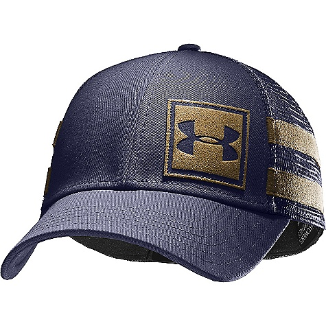 Fitness Under Armour Men's MTN Snapback Cap DECENT FEATURES of the Under Armour Men's MTN Snapback Cap Trucker Style Mesh Back Leather Logo Applique Patterned Under brim Heat gear Sweatband Structured The SPECS 96% Cotton, 4% Spandex - $29.95