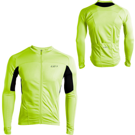Fitness The name of the Garneau Ventila Long Sleeve Jersey should be a straightforward indication of its purpose. Though it has long sleeves, the Ventila Jersey is made to provide better than average ventilation. You might not wear it alone in cold weather, though it's great for transitional days that may start chilly and warm right up as the sun climbs in the sky. The secret to the breathability of the Ventila Jersey is Garneau's AirDry fabric. It's knit with tiny, open cells that allow air movement and also facilitate wicking to keep you comfortable. Adding to the breathability are mesh panels under the arms. The Ventila is part of Garneau's Road Performance line. As such, it gets a slightly looser cut. While not flappy, it won't remind you in an unflattering way that you've had too much dessert around the holidays. The back carries the standard three rear pockets, and the outer two are cut at an angle to facilitate access with gloved hands.The Garneau Ventila Long Sleeve Jersey is Ginger and comes in seven sizes from X-Small to XXX-Large. All of our favorite jerseys have full-length zippers, and this one is no exception. It's great for moderating core temperature. - $41.97