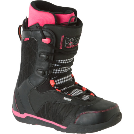 Snowboard Its great that snowboard companies are constantly trying new technologies, but some of us prefer the tried-and-true designs. The user-friendly Ride Donna Snowboard Boots have a soft, mellow flex, traditional lacing, and a comfortable sneaker-inspired fit. - $77.97