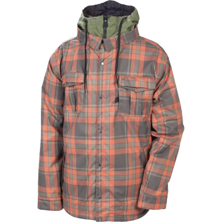 Snowboard The 686 Reserved Axxe Insulated Jacket hooks up some blue-collar style complete with mountain-worthy protection against the elements. It's kind of like what would happen if your favorite flannel and snowboard jacket made a baby. - $140.00