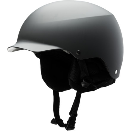 Entertainment The Bern Baker Helmet was Bern's original visor helmet, and it set the standard for visor style way back in 2006. Since then, Bern has added the audio feature so you can rock out while you ride. - $71.97
