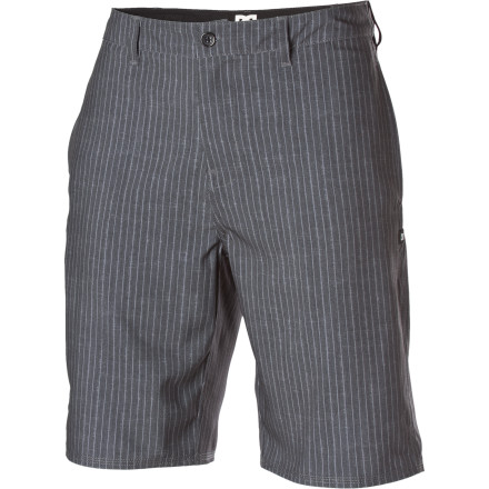 The DC Jailbird Hybrid Short presents you with the option to wear it casually or wear it in the water\227just don't expect it to deliver you any sharpened toothbrushes or a cake with a file in it. - $32.45