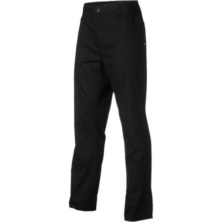 Skateboard Skate-able, date-able, and style that's not debatable. The DC Chino Pant is constructed from light and durable twill material that keeps the boss happy at work; thanks to the added stretch, you can remain comfortable while skating ledges outside the building after he leaves - $22.50