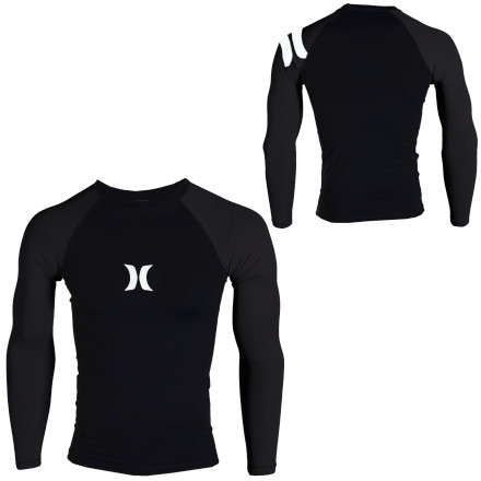 Surf The Hurley Men's One And Only Rashguard has you covered whether you're surfing, kite boarding, or wake boarding. Its four-way stretch fabric gives you plenty of mobility when paddling, and its antimicrobial 5oz Lycra fabric keeps you feeling fresh after hours spent in the water. Hurley also gave this rashguard flatlock seams for comfort, and its UPF 40+ rated fabric helps protect your skin from the sun's rays so you don't end up looking twenty years older than you actually are. - $39.45