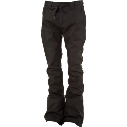 Snowboard The L1 Thunder Pant features a super-clean chino silhouette, with a skinny fit that's just like your favorite pair of jeans. Unlike your favorite pair of jeans, however, the Thunder has a waterproof/breathable membrane, zippered leg cuffs, and zippered pockets for full on-hill function. - $110.47
