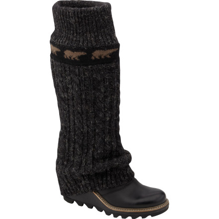 Ski After a long day of making turns at the resort, slip on the Women's Crazy Cable Wedge Boot from Sorel and head out for a night on the town. The full-grain leather uppers provide ample protection from the winter weather while the cable knit leg-warmers add a touch of 80's style when you hit the dance floor. With the sleek profile provided by three inches of heel height, the Crazy Cable has ski-town style, class, and fun written all over it. - $159.98