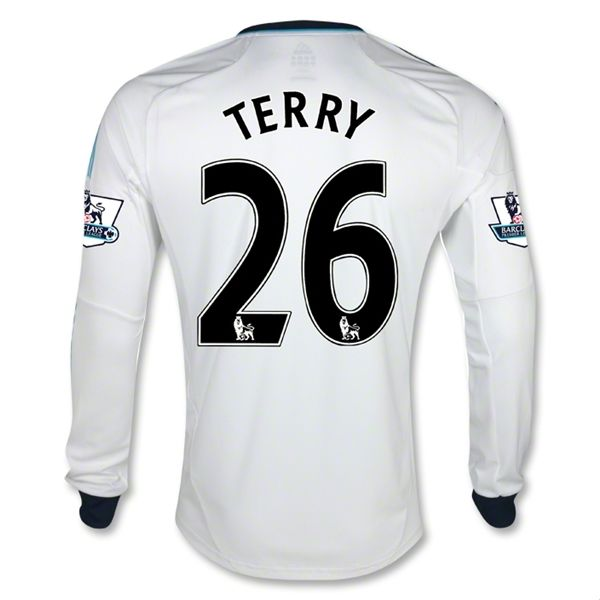 Sports Mens TERRY Chelsea Away Long Sleeve Soccer Jersey 12/13