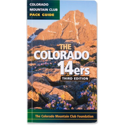 Climbing The Colorado's 14ers Pack Guide features the most popular routes for all 54 of Colorado's Fourteeners and fits in your pack. - $12.95