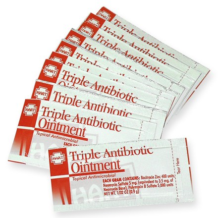 Camp and Hike Ointment is Bacitracin Zinc, Neomycin Sulfate, and Polymyxin B Sulfate for topical antimicrobial treatment of minor cuts, scrapes and burns. - $4.00